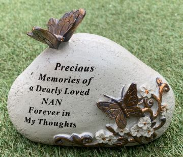 Memorial STONE with Tribute Verse - BUTTERFLY Design SPECIAL NAN